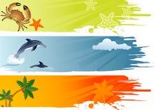 Bandiera di estate Fotografia Stock