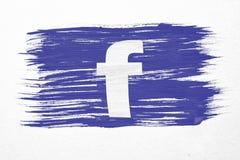 Bandiera di Facebook Immagini Stock