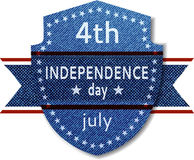 Bandiera di festa dell'indipendenza del 4 luglio Fotografia Stock
