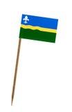 Bandiera di Flevoland fotografia stock