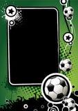 Bandiera di gioco del calcio illustrazione di stock