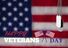 Bandiera di giornata dei veterani Fotografia Stock