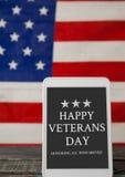 Bandiera di giornata dei veterani Fotografie Stock Libere da Diritti