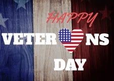 Bandiera di giornata dei veterani Immagine Stock