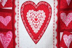 Bandiera di giorno del biglietto di S. Valentino. Fotografia Stock Libera da Diritti