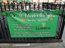Bandiera di giorno della st Patrick Fotografia Stock