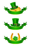 Bandiera di giorno della st Patrick, insieme Fotografia Stock