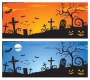 Bandiera di Halloween Immagini Stock