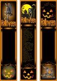 Bandiera di Halloween illustrazione di stock