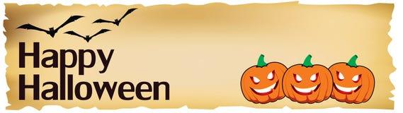 Bandiera di Halloween Fotografia Stock