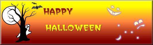 Bandiera di Halloween illustrazione vettoriale