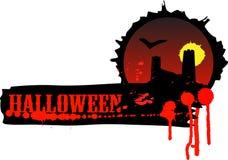 Bandiera di Halloween Immagine Stock