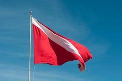 Bandiera di immersione con bombole Fotografie Stock