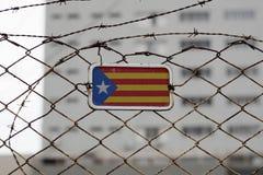 Bandiera di indipendenza della Catalogna fotografie stock libere da diritti