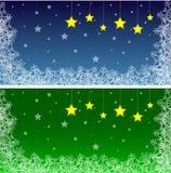 Bandiera di inverno Fotografia Stock Libera da Diritti