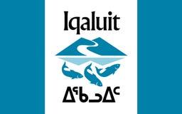 Bandiera di Iqaluit in Nunavut, Canada immagini stock