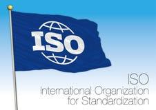 Bandiera di iso, International Organization for Standardization illustrazione di stock