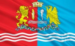 Bandiera di Ivanovo Oblast, Federazione Russa illustrazione vettoriale