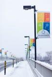 Bandiera di Jean-Drapeau Fotografie Stock Libere da Diritti
