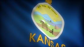 Bandiera di Kansas illustrazione di stock