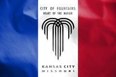 Bandiera di Kansas City, Missouri, U.S.A. royalty illustrazione gratis