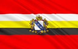 Bandiera di Kursk Oblast, Federazione Russa illustrazione vettoriale
