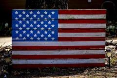 Bandiera di legno fotografia stock