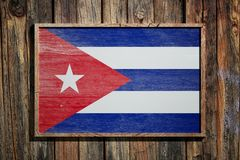 Bandiera di legno di Cuba illustrazione vettoriale