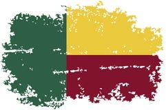 Bandiera di lerciume del Benin Illustrazione di vettore Royalty Illustrazione gratis