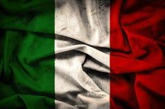 Bandiera di lerciume dell'Italia - fondo d'annata Immagine Stock