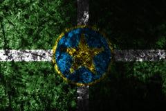 Bandiera di lerciume della città di Jackson, stato del Mississippi, Stati Uniti di Ame Fotografia Stock