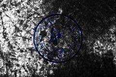 Bandiera di lerciume della città di Yonkers vecchia, fondo, Stato di New York, Stati Uniti di Americ immagine stock