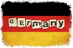 Bandiera di lerciume della Germania con testo Fotografia Stock