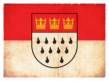 Bandiera di lerciume della Renania settentrionale-Vestfalia di Colonia, Germania Fotografie Stock