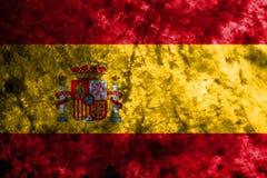 Bandiera di lerciume della Spagna sulla vecchia parete sporca Fotografia Stock