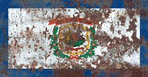 Bandiera di lerciume dello stato del Virginia Occidentale, Stati Uniti d'America Fotografia Stock
