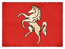 Bandiera di lerciume di Kent Great Britain illustrazione vettoriale