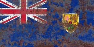 Bandiera di lerciume di Isole Turks e Caicos, Territori d'oltremare britannico Fotografie Stock Libere da Diritti