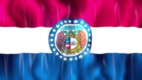 Bandiera di Loopable dello stato del Missouri royalty illustrazione gratis