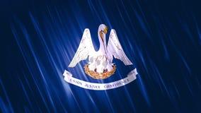 Bandiera di Loopable dello stato della Luisiana royalty illustrazione gratis