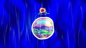 Bandiera di Loopable dello stato di Kansas illustrazione di stock