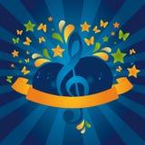 Bandiera di musica Fotografie Stock