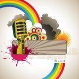 Bandiera di musica Fotografia Stock