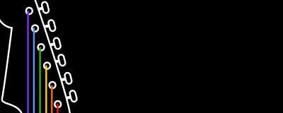 Bandiera di musica Immagini Stock