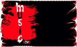 Bandiera di musica di vettore Fotografia Stock