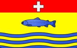 Bandiera di Nantua, Francia fotografia stock libera da diritti