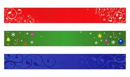 Bandiera di natale Immagini Stock