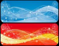 Bandiera di natale due illustrazione vettoriale