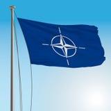 Bandiera di NATO Fotografia Stock Libera da Diritti