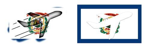 Bandiera di nazione - aeroplano isolato - Virginia Occidentale Immagini Stock Libere da Diritti